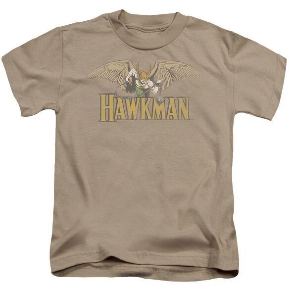Dc Hawkman Short Sleeve Juvenile Sand T-Shirt