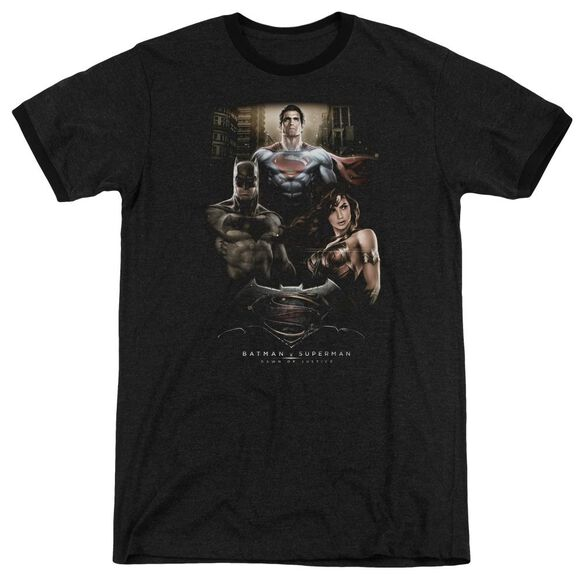 Batman V Superman Thre Three Adult Heather Ringer
