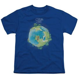 Yes Fragile Cover Short Sleeve Youth Royal T-Shirt