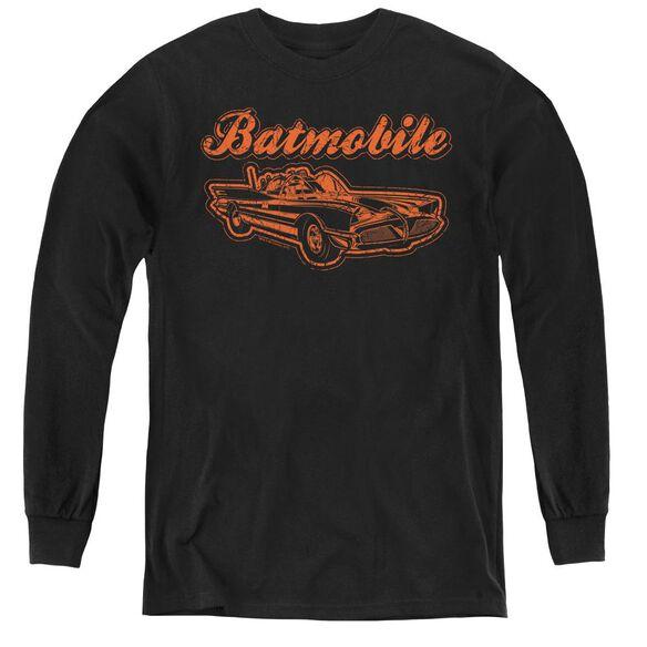Batman Batmobile - Youth Long Sleeve Tee - Black