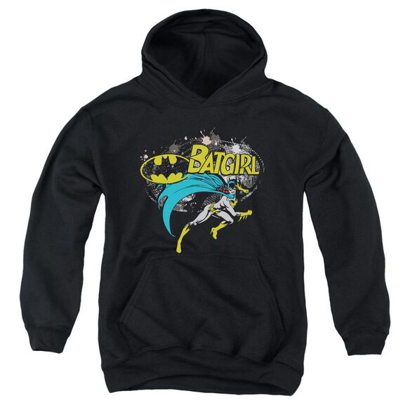 Batman Batgirl Halftone Youth Pull Over Hoodie