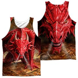 Anne Stokes Dragons Lair (Front Back Print) Adult 100% Poly Tank Top
