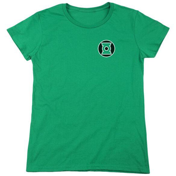 Lantern Kyle Rayner Logo Short Sleeve Womens Tee Kelly T-Shirt