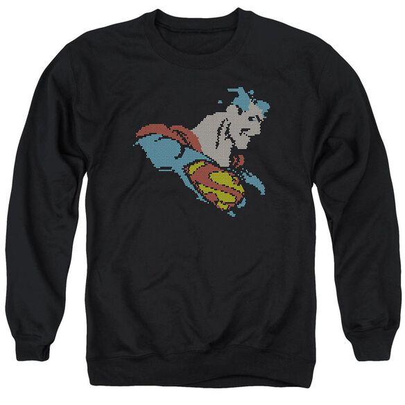 Dc Lite Brite Superman Adult Crewneck Sweatshirt