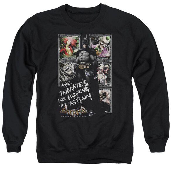 Batman Aa Running The Asylum Adult Crewneck Sweatshirt