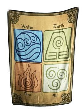 Avatar The Last Airbender - Elements Plush Blanket