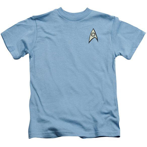 Star Trek Science Uniform Short Sleeve Juvenile Carolina Blue Md T-Shirt