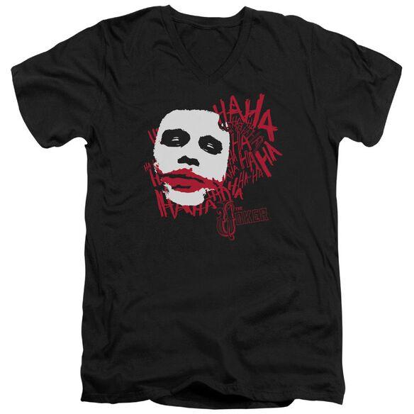 Dark Knight Whats So Funny Short Sleeve Adult V Neck T-Shirt