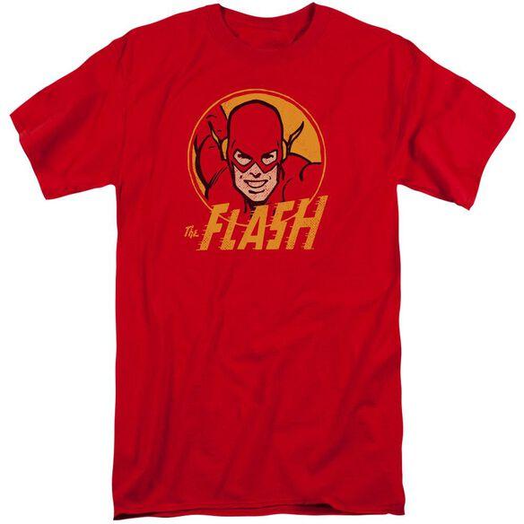 Dc Flash Flash Circle Short Sleeve Adult Tall T-Shirt