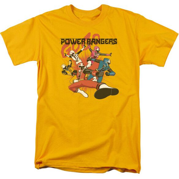 Power Rangers Attack Short Sleeve Adult T-Shirt