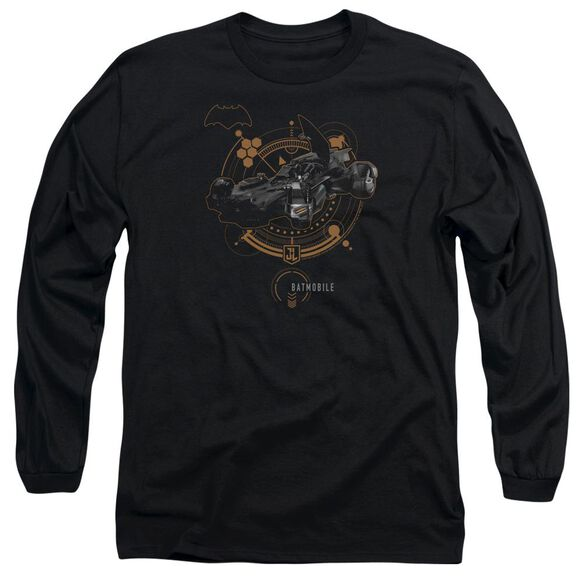 Justice League Movie Batmobile Long Sleeve Adult T-Shirt
