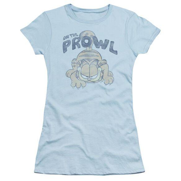 Garfield Prowl Short Sleeve Junior Sheer Light T-Shirt