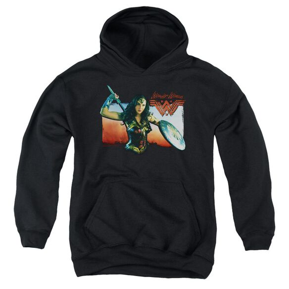 Wonder Woman Movie Warrior Woman Youth Pull Over Hoodie