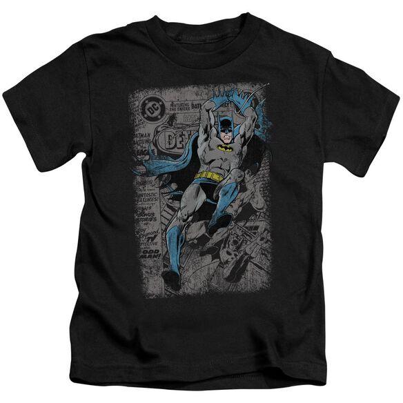 Batman Detective #487 Distress Short Sleeve Juvenile Black T-Shirt