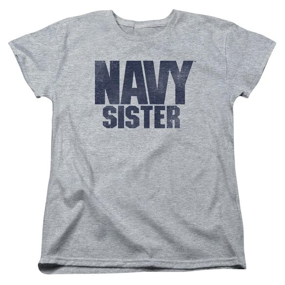 Navy Sister Short Sleeve Womens Tee Athletic T-Shirt
