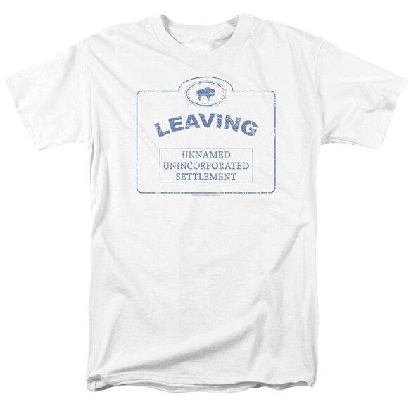 Warehouse 13 Now Leaving Univille Short Sleeve Adult White T-Shirt
