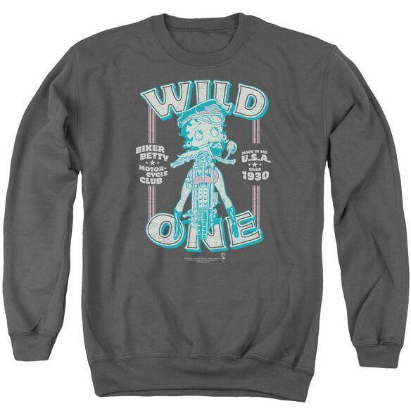 Betty Boop Wild One Adult Crewneck Sweatshirt