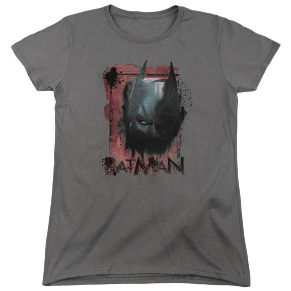Dark Knight Rises Fear Me Short Sleeve Womens Tee Charcoal T-Shirt