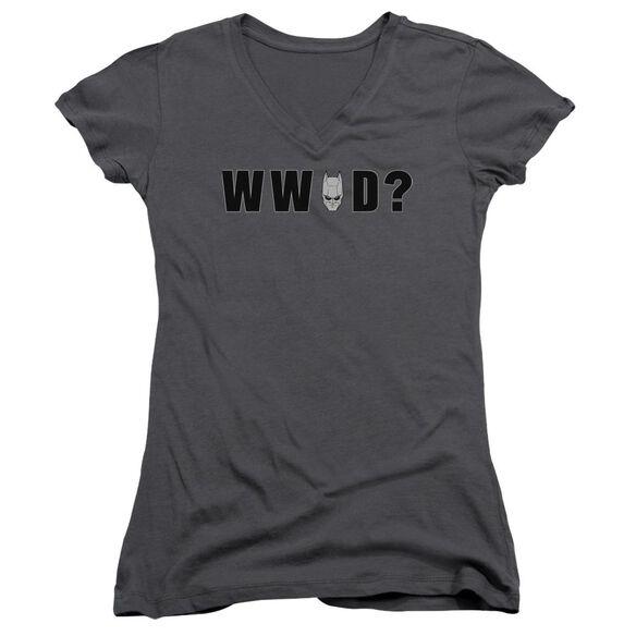 Dark Knight Wwbd Head Junior V Neck T-Shirt