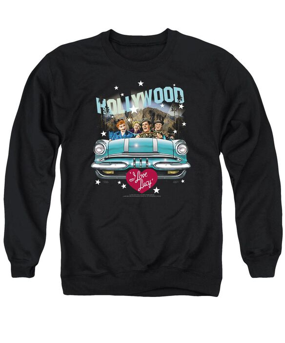 I Love Lucy Hollywood Road Trip Adult Crewneck Sweatshirt