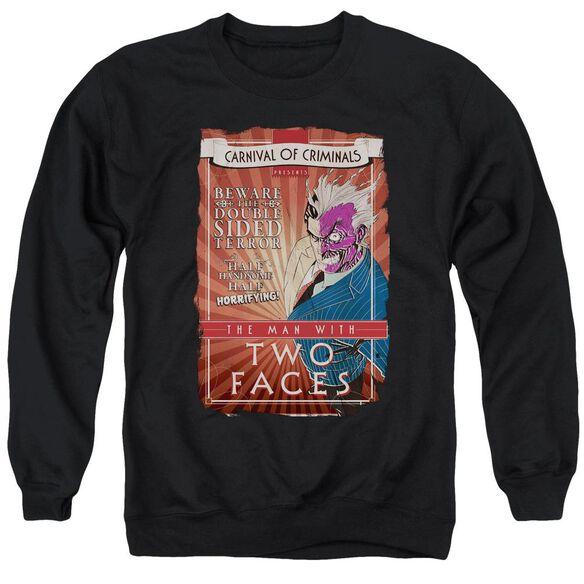 Batman Two Faces - Adult Crewneck Sweatshirt - Black