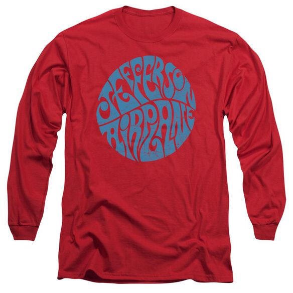 Jefferson Airplane Round Logo Long Sleeve Adult T-Shirt