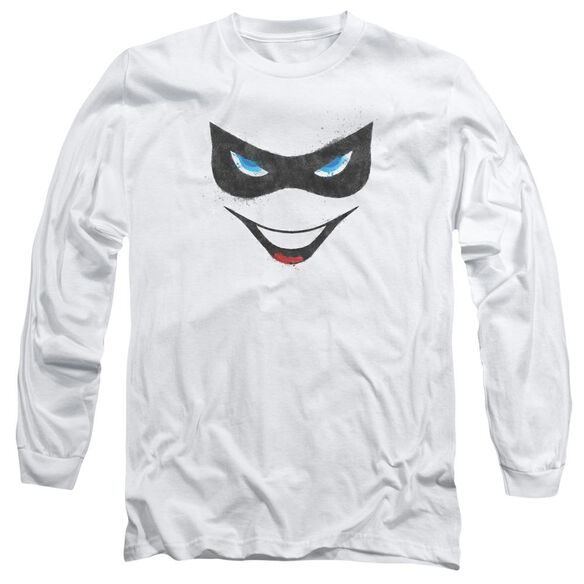 Batman Harley Face Long Sleeve Adult T-Shirt