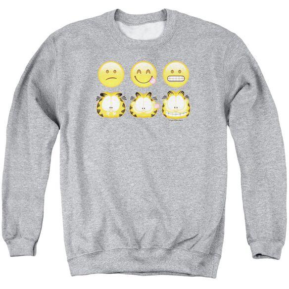 Garfield Emojis Adult Crewneck Sweatshirt Athletic