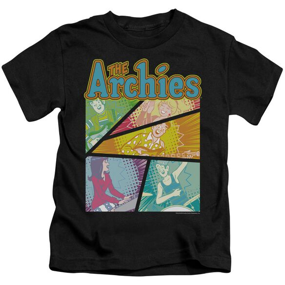 Archie Comics The Archies Colored Short Sleeve Juvenile Black T-Shirt