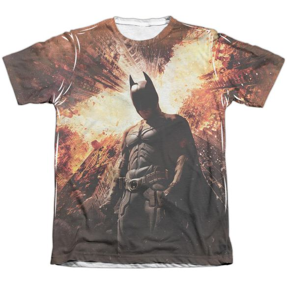 Dark Knight Rises Fire Poster Adult Poly Cotton Short Sleeve Tee T-Shirt