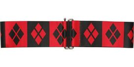 Harley Quinn Checkered Symbols Cinch Waist Belt