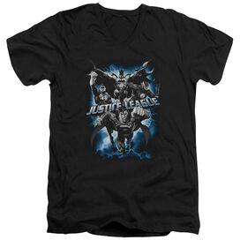 JLA JUSTICE STORM - S/S ADULT V-NECK T-Shirt