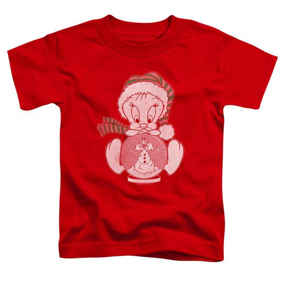 Looney Tunes Tweey Globe Short Sleeve Toddler Tee Red T-Shirt
