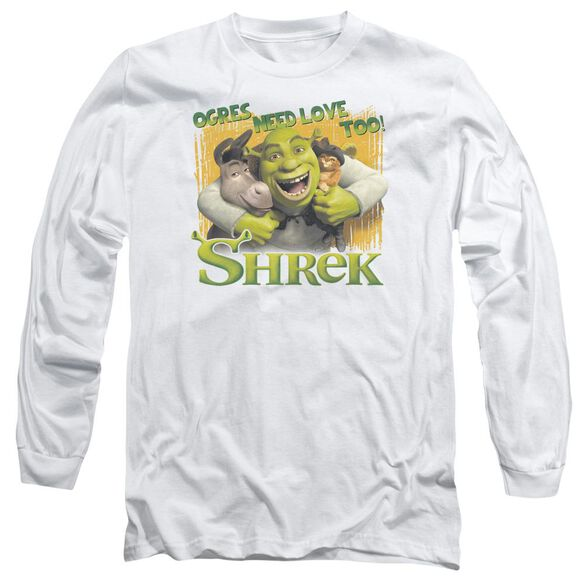 Shrek Ogres Need Love Long Sleeve Adult T-Shirt