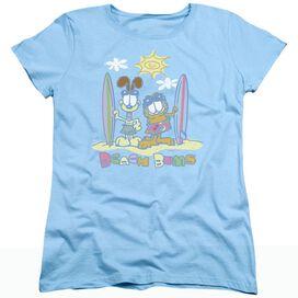 GARFIELD BEACH BUMS - S/S WOMENS TEE - LIGHT BLUE T-Shirt
