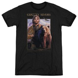 Grizzly Adams Collage Adult Heather Ringer