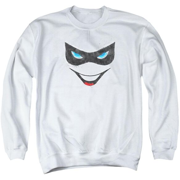 Batman Harley Face Adult Crewneck Sweatshirt