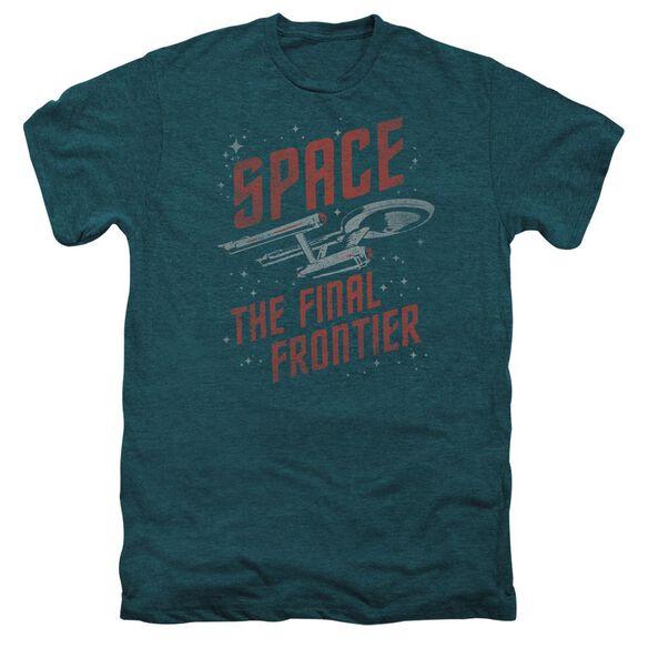 Star Trek Space Travel Short Sleeve Adult Premium Tee Deep Teal T-Shirt