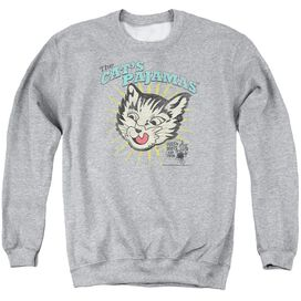 Puss N Boots Cats Pajamas - Adult Crewneck Sweatshirt - Athletic Heather