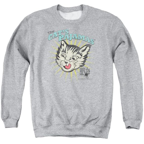 Puss N Boots Cats Pajamas Adult Crewneck Sweatshirt Athletic