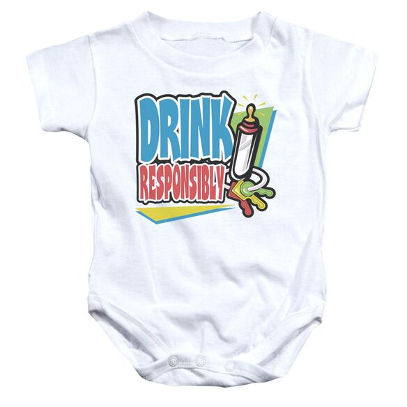 Drink Responsibly Infant Snapsuit White Lg