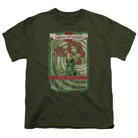 Batman Botanical Beauty Short Sleeve Youth Military T-Shirt