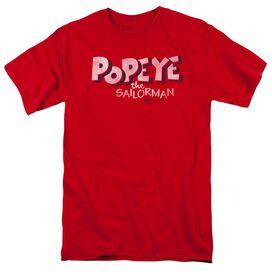Popeye 3 D Logo Short Sleeve Adult T-Shirt