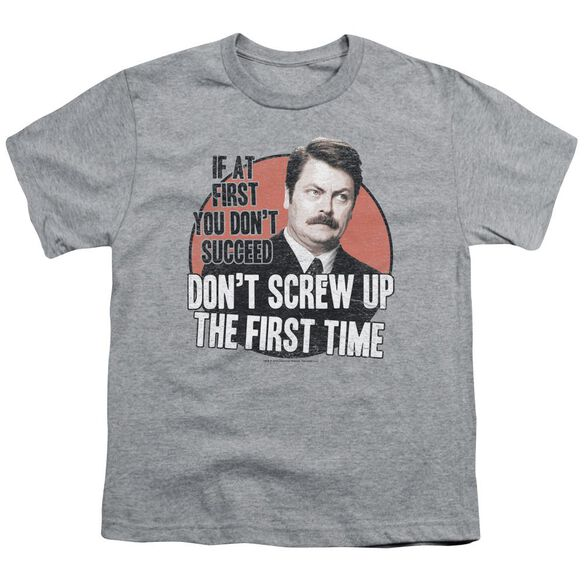 Parks And Rec Don't Screw Up Short Sleeve Youth Athletic T-Shirt