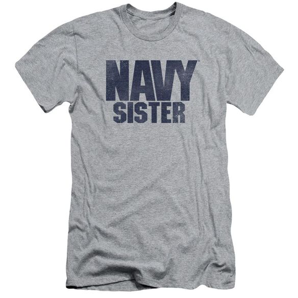 Navy Sister Short Sleeve Adult Athletic T-Shirt