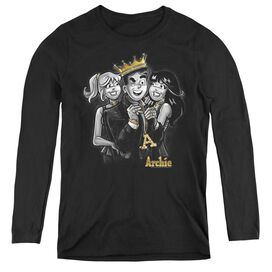ARCHIE COMICS LADIES MAN - WOMENS LONG SLEEVE TEE - BLACK