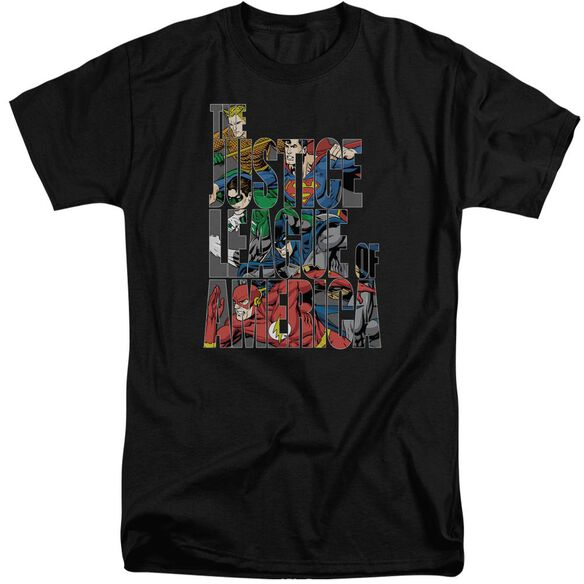 Jla Lettered League Short Sleeve Adult Tall T-Shirt