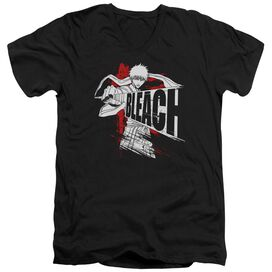 Bleach Sword Drawn Short Sleeve Adult V Neck T-Shirt