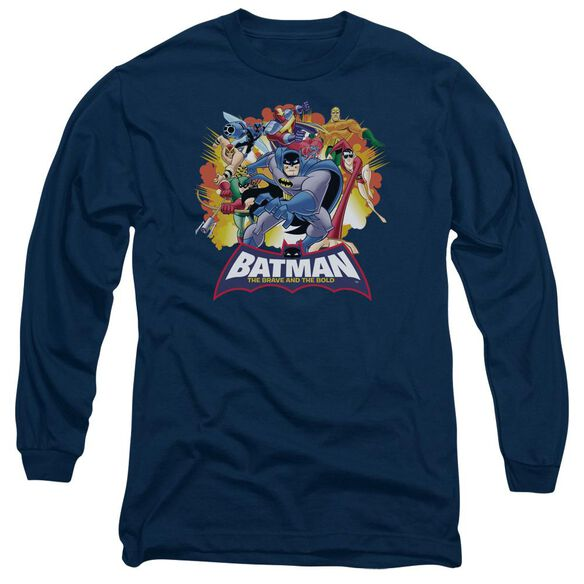 Batman Bb Explosive Heroes Long Sleeve Adult T-Shirt