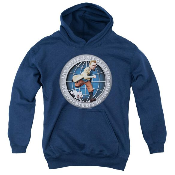 Tintin Globe Youth Pull Over Hoodie